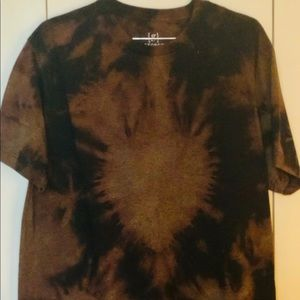 Hand Crafted Black/Bronze Tie Dye T-Shirt